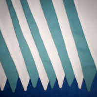 30ft (10m) DOUBLE SIDED TEAL AND IVORY CREAM fabric Bunting for wedding party