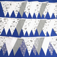 Rustic Double Sided Fabric Bunting - Greys - with or without lace, choose