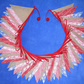 50ft (15m) Hessian Burlap, lace and fabric Christmas Bunting