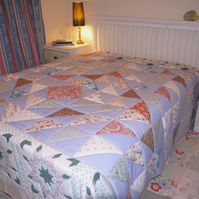 Patchwork quilt for Single or Double bed