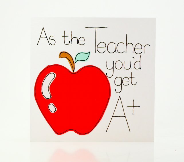 Greeting Card - Teacher Card - Teacher Thank You card - Teacher Appreciation