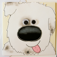 Cute Dog Birthday Handmade Greeting Card