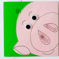 Greeting card - Cute Pig Birthday Card