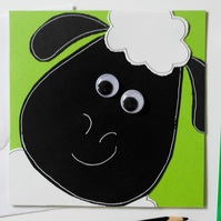 Handmade Greeting Card Cute Sheep