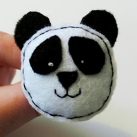Panda brooch - Cute Panda brooch - Handmade Pin