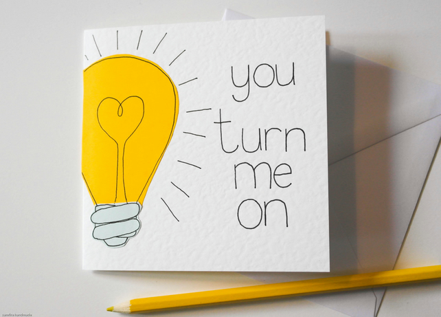 Paper Greeting card. Funny boyfriend card. Witty Anniversary Card
