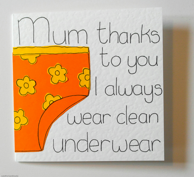 Mothers Day Card Mum Funny Birthday Gree FolksyCard For 9