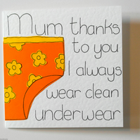 Mothers Day card, Mum funny birthday card, greeting card, Non traditional Mum