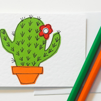 Note Cards Pack of 6, Cacti notecards Cards, Greeting Card 6 Pack , Catcus cards