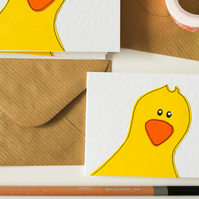 Cute duck card pack, Yellow duck greeting cards pack of six, Multi pack of cards