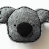 Koala bear felt brooch, Kawaii koala gift, Australian animal pin, Cute koala pin