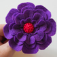 Handmade purple flower brooch-Floral purple pin-Gift for her-Mother's day gift