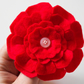 Red flower brooch-Winter accessory-Red felt flower pin-Gift for her-Floral pin
