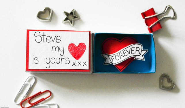 Valentine's day card-Personalised Valentine's Day card-Love gift for him or her