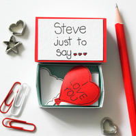 Valentine Gift, Personalised Valentine's day card, Unique Valentine Gift