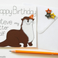 Personalised otter birthday card, Otter pun birthday card, For Her, For Him