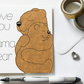 Love you Mama Bear Mother's Day card, Cute bear and cub Birthday card