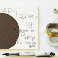 Dad to Be Card, Father's Day Card, Card From The Bump
