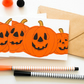 6 Pack Halloween Mini Cards, Pumpkin notecards, Handmade Halloween Party Invites