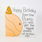 Handmade greeting card, Happy Birthday from the Bump,Birthday Card from the Bump