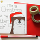 Merry Christmas to my Otter Half Christmas card, Funny Otter Pun Christmas card