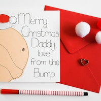 Christmas card from the Bump to a Daddy to be, Daddy from the Bump