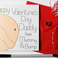 Bump Valentine's Day card from Mummy to Be for Daddy to Be, Card from the Bump