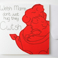Welsh Mams don't just hug they Cwtsh Mother's day card, Welsh Mam Birthday card