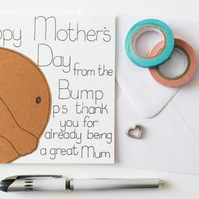 Handmade Mother's Day card - Mother's Day Card from the Bump