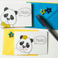 Cute Panda Notecards, Stocking filler Thank you cards, Kawaii Panda cards
