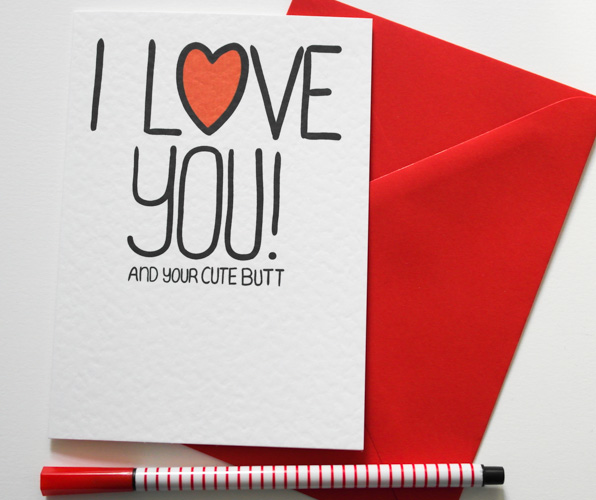 I Love You! And Your Weirdness, Funny Valentine's,Birthday, Anniversary card