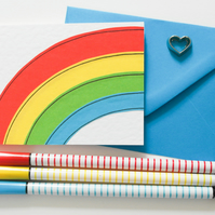 Rainbow Note cards pack of 6, Greeting card 6 Pack, Thinking of you cards