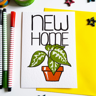 NEW HOME Greetings Card for moving house for friends, family or new neighbours