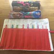 Crochet Hook Roll Including Hooks