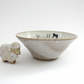Ceramic bowl with lambs and their mum - handmade stoneware pottery