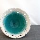 Decorative emerald green ceramic bowl - handmade pottery