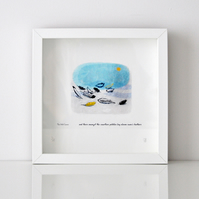 Fine Art Giclee Print - Swans Feathers - Unframed
