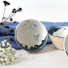birds on a wire tapas bowl - handmade pottery