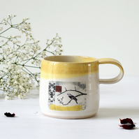 Fairy Tale Mug - The Nightingale - Hans Christian Andersen - illustrated pottery
