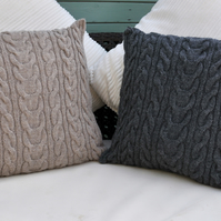 Cushion Cover, hand knitted