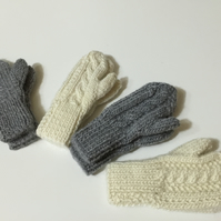 Alpaca&wool childrens mittens
