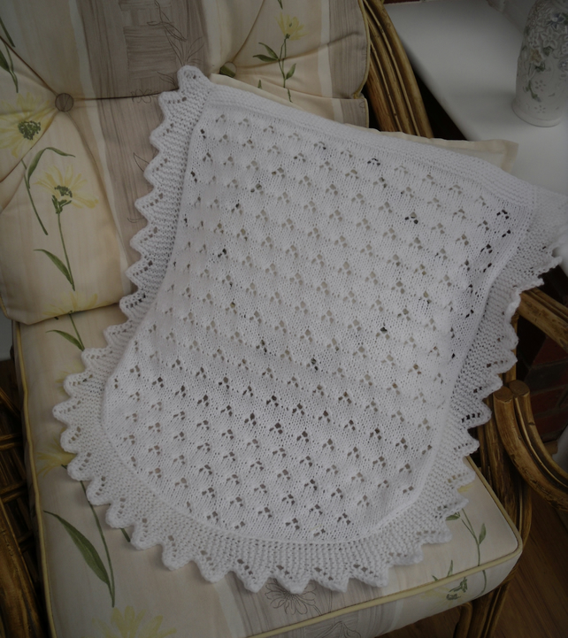 Knitting Pattern Moses Basket Blanket : Knitted baby blanket, car seat or moses basket ... - Folksy