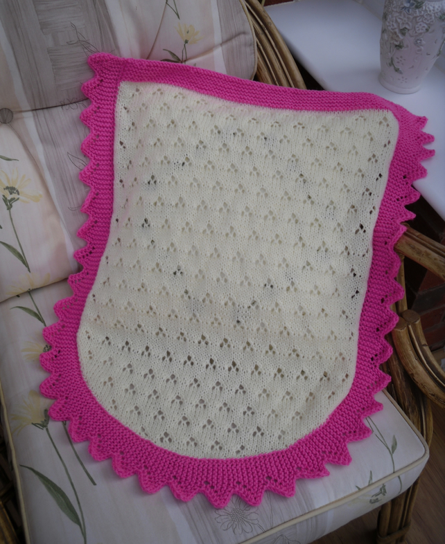Knitting Pattern For Baby Car Seat Blanket : Knitted baby blanket, car seat or moses basket ... - Folksy
