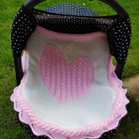 Small blanket, carseat blanket, moses basket blanket FREE UK SHIPPING