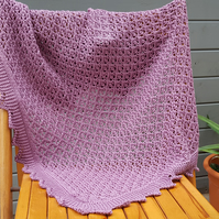 Lightweight lace blanket