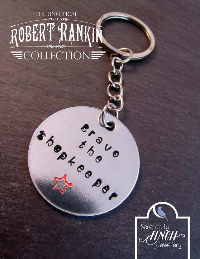 Bravo the Shopkeeper Keyring, Robert Rankin Keyring