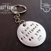 Fictional Quote Keyring, Robert Rankin Keyring