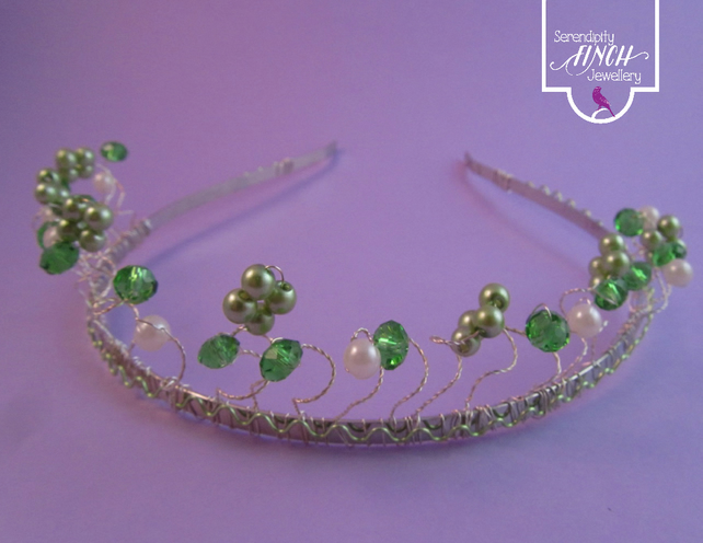 Green White Tiara