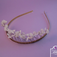 White Quartz Chip Tiara