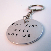 The Fish Will Eat Us Keyring, Robert Rankin Keyring